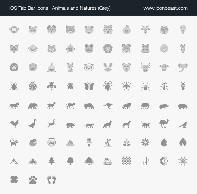 Animals And Natures Ios Tab Bar Icons