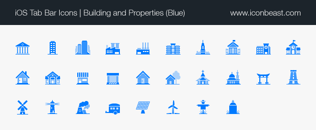 Buildings And Properties Ios Tab Bar Icons