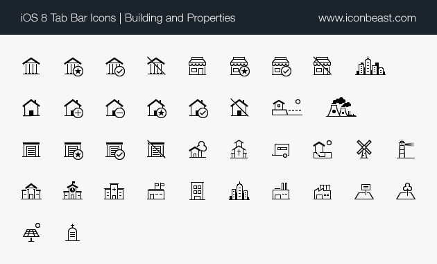iOS tab bar icons building properties