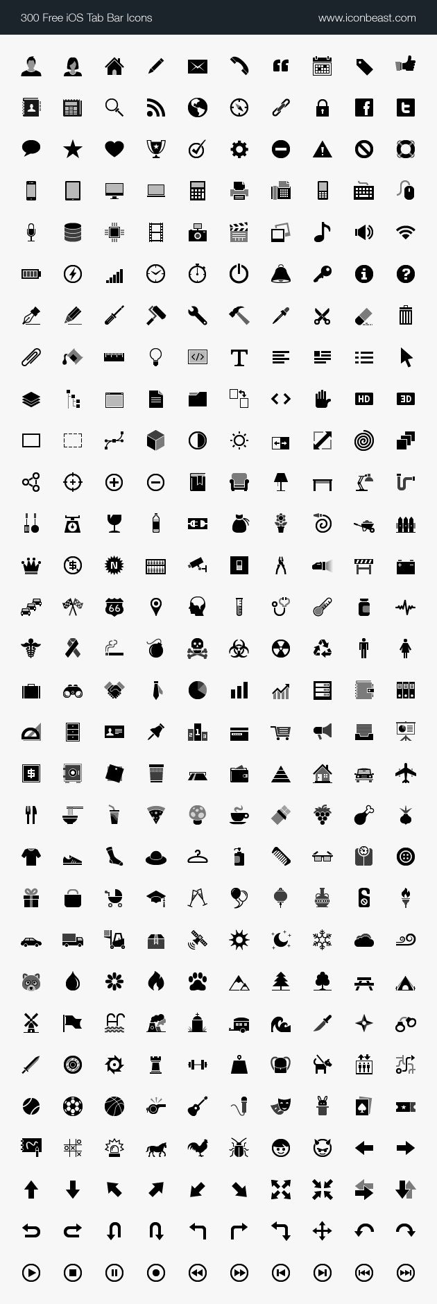 IconBeast Lite | 500 Free iOS Tab Bar Icons for iPhone and iPad